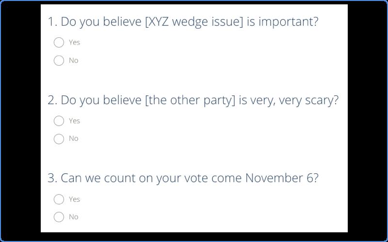 Confirmational Survey